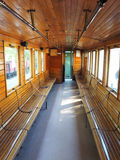 Interior of  old train carriage Royalty Free Stock Image