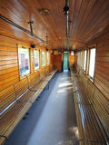 Interior of  old train carriage Stock Image