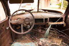 Interior old truck Royalty Free Stock Images
