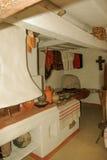 Interior of old ukrainian home in rural life Pirogovo, Kiev Stock Image