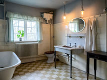 Interior of an old vintage bathroom. Interior of a very old vintage bathroom royalty free stock photos
