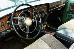 Interior of old vintage car Stock Photography