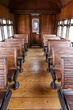 Interior of old wagon steam train passengers. Still operating as tourist attraction, in Guararema, Sao Paulo, Brazil Royalty Free Stock Photos