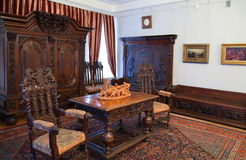 Interior with old wooden furniture Royalty Free Stock Photography