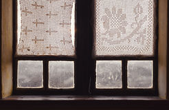 Interior of an Old Wooden Window Royalty Free Stock Images