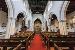 The interior of oldest church at Cambridge Stock Images
