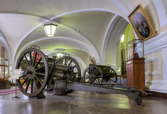Interior of one of the halls of the Museum of Artillery Royalty Free Stock Photo