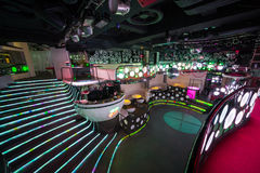 The interior of one of the rooms of the nightclub Pacha Stock Image