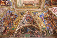 The interior of one of the rooms of the Vatican Museum Royalty Free Stock Photography