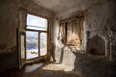 Interior of one of the stone houses in famouse Kandovan village Stock Photos