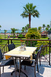 Interior open air restaurant Royalty Free Stock Image