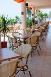 Interior open air restaurant Royalty Free Stock Photos