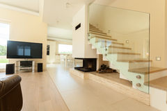 Interior of open area at home Stock Images