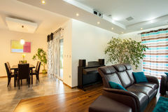 Interior of open space in house Royalty Free Stock Photography
