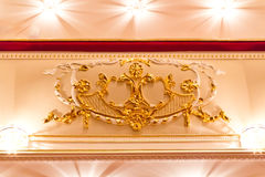 Interior of opera and ballet theater Royalty Free Stock Photo