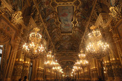 Interior of Opera Garnier in Paris Royalty Free Stock Image