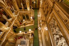 Interior of Opera state house, Vienna Royalty Free Stock Photo