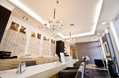 Interior of optician shop Royalty Free Stock Photos