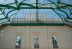 Interior of the Orangery at the Royal Greenhouses at Laeken, Brussels, Belgium.