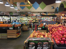 Interior organic produce for sale at  store Stock Photo