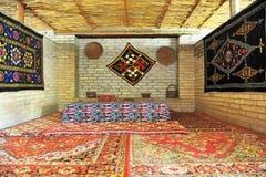 Interior oriental tradicional da casa de chá imagem de stock