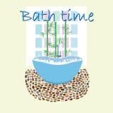 Interior original do projeto do tempo do banho Fotos de Stock Royalty Free
