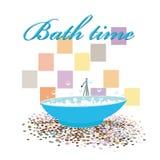 Interior original do projeto do tempo do banho Imagens de Stock Royalty Free