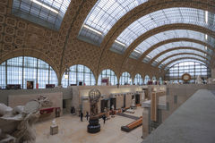 Interior of the Orsay museum. Royalty Free Stock Photography