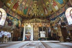 Interior of orthodox chapel Stock Photos