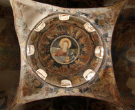 Interior of orthodox christian church near Skopje, Macedonia Stock Photography