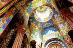 Interior of Orthodox Church Stock Images