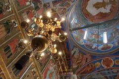 Interior of orthodox church Royalty Free Stock Image