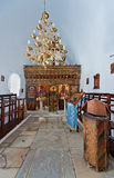 Interior of an orthodox church in Naoussa, Paros, Greece Royalty Free Stock Photos