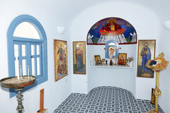 The interior of Orthodox Church Stock Photography