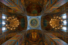 Interior of the orthodox church Royalty Free Stock Photo