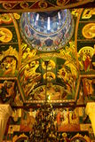 Interior of orthodox church Stock Images