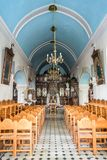 Interior of the orthodox greek church of Rethymno in Crete Greece. Interior of the orthodox greek church of Rethymno in Crete, Greece Royalty Free Stock Photography