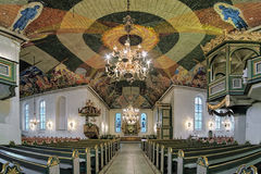Interior of Oslo Cathedral, Norway Stock Images
