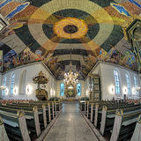 Interior of Oslo Cathedral, Norway Royalty Free Stock Photo