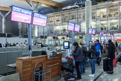 Interior of Oslo Gardermoen International Airport Stock Images