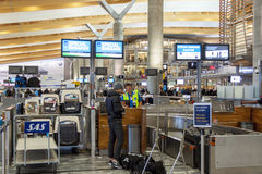 Interior of Oslo Gardermoen International Airport Stock Photos