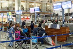 Interior of Oslo Gardermoen International Airport Stock Photo