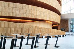 Interior of the Oslo Opera House, Norway. Waiting Lounge of the Oslo Opera House, Norway. Photo taken at Ground Floor royalty free stock photo