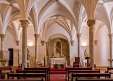 Interior of Our Lady of the Annunciation Church in Mertola, Alentejo, Portugal. The interior of Our Lady of the Annunciation Church. The church was originally a royalty free stock photos