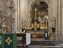 Interior of Our Lady of St. Peter 's church. GHENT, BELGIUM-AUGUST 17, 2014: Interior of Our Lady of St. Peter 's church. The church is known from the founding Royalty Free Stock Photo