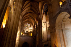Interior of the Oviedo's Cathedral Royalty Free Stock Photography