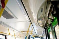 Interior público del autobús Imágenes de archivo libres de regalías