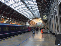 Interior Paddington Station - London, England. Paddington Station -  a central London railway terminus and London Underground station complex.  The site has been Royalty Free Stock Photo