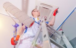 Interior Painting Renovation Royalty Free Stock Images