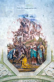 Interior painting of St. George`s church in Yuryev-Polsky. Interior painting in 1827 the church of St. George in Yuriev-Polsky royalty free stock photography